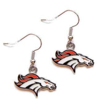 Denver Broncos Dangle Logo Earrings