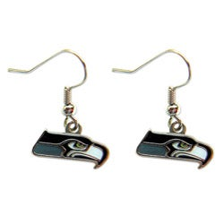 Seattle Seahawks Dangle Logo Earrings - Thumbnail 0