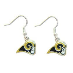 St Louis Rams Dangle Logo Earrings