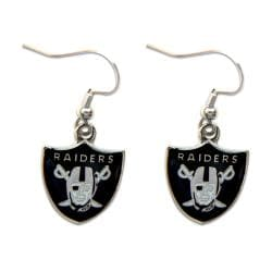 Oakland Raiders Dangle Logo Earring
