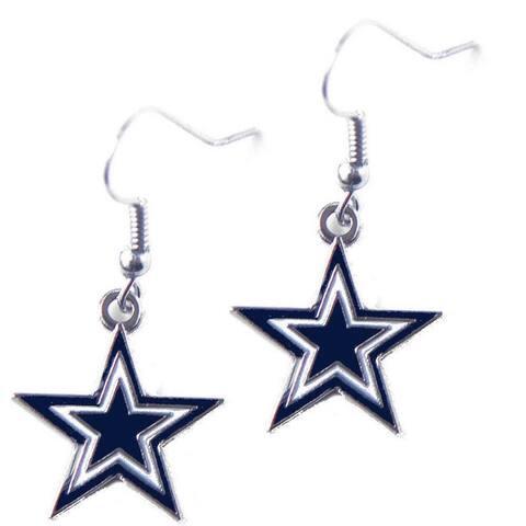 NFL Dallas Cowboys Dangle Logo Earrings