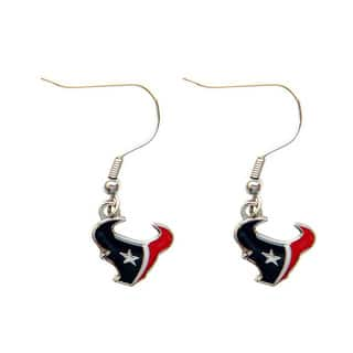 Houston Texans Dangle Logo Earrings|https://ak1.ostkcdn.com/images/products/5785959/P13509699.jpg?impolicy=medium