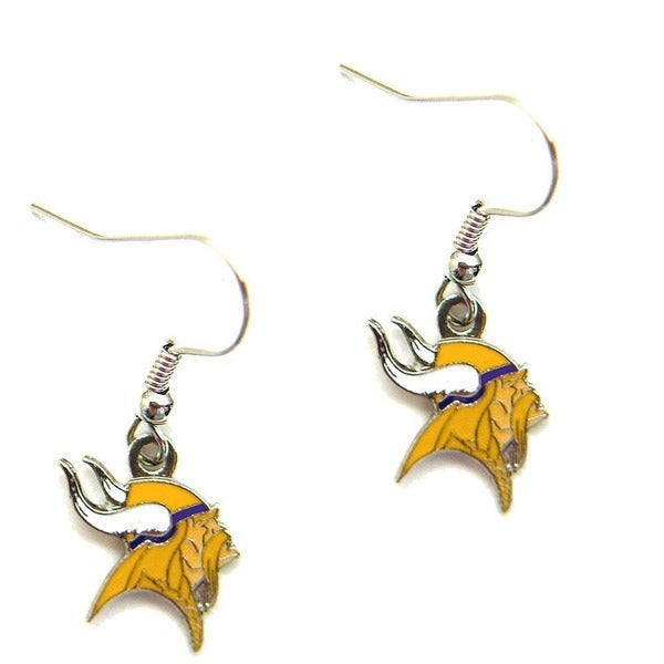 Minnesota Vikings Dangle Logo Earrings