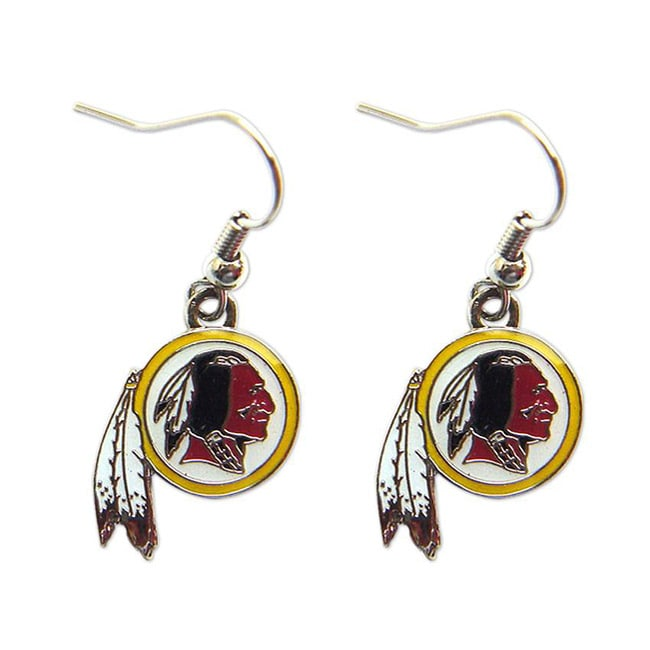 Washington Redskins Dangle Logo Earrings - Thumbnail 0