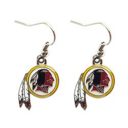 Washington Redskins Dangle Logo Earrings - Thumbnail 0