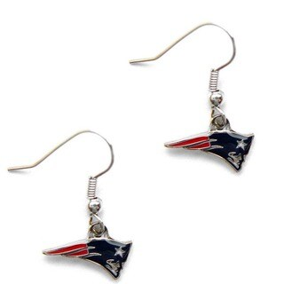 New England Patriots Dangle Logo Earrings