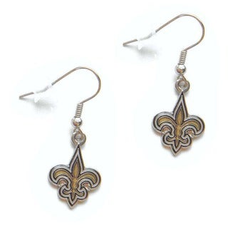 New Orleans Saints Dangle Logo Earrings
