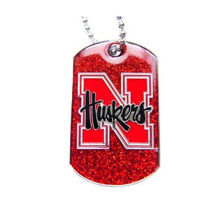 Nebraska Cornhuskers Red Dog Tag Necklace