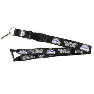 Colorado Rockies Black Clip Lanyard