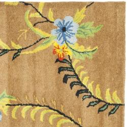 Safavieh Handmade Soho Brown New Zealand Wool Area Rug (6' Square)