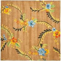 Safavieh Handmade Soho Contemporary Brown New Zealand Wool Rug - 8' x 8' Square