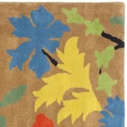 Safavieh Handmade Soho Brown New Zealand Wool Rug (8' Square) - Thumbnail 1