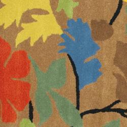 Safavieh Handmade Soho Brown New Zealand Wool Rug (8' Square) - Thumbnail 2