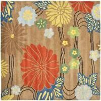 Safavieh Handmade Soho Brown New Zealand Wool Rug (8' Square) - 8'