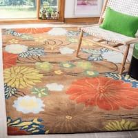 Safavieh Handmade Soho Brown New Zealand Wool Rug - 8' X 8' Square