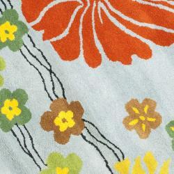 Safavieh Handmade Soho Blue New Zealand Wool Rug (6' Round) - Thumbnail 2