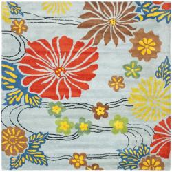 Safavieh Handmade Soho Blue New Zealand Wool Rug (6' Square)