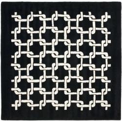 Safavieh Handmade Soho Black New Zealand Wool Rug - 6' x 6' Square - Thumbnail 0