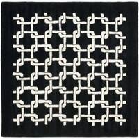 Safavieh Handmade Soho Black New Zealand Wool Rug (6' Square) - 6' Square