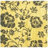 Safavieh Handmade Soho Gold New Zealand Wool Rug (6' Square) - 6' x 6'