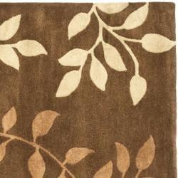 Safavieh Handmade Soho Brown/Multicolored New Zealand Wool Area Rug (6' Square) - Thumbnail 1