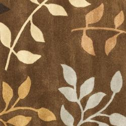 Safavieh Handmade Soho Brown/Multicolored New Zealand Wool Area Rug (6' Square) - Thumbnail 2