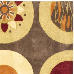 Safavieh Handmade Soho Brown/ Multi New Zealand Wool Rug (6' Square) - Thumbnail 1