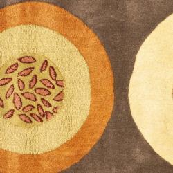 Safavieh Handmade Soho Brown/ Multi New Zealand Wool Rug (6' Square) - Thumbnail 2