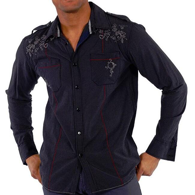 191 Unlimited Men's Dark Gingham Shirt