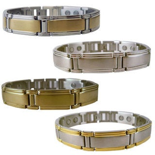 Men's Magnetic Brushed Stainless Steel Bracelet (4 options available)