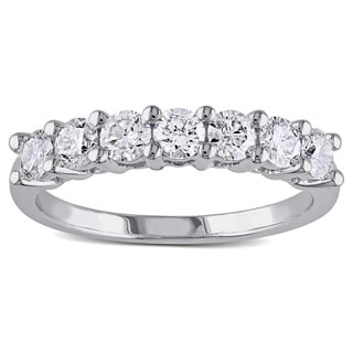 Miadora Signature Collection 14k White Gold 1ct TDW 7-Stone Certified Diamond Ring (G-H, SI1-SI2)