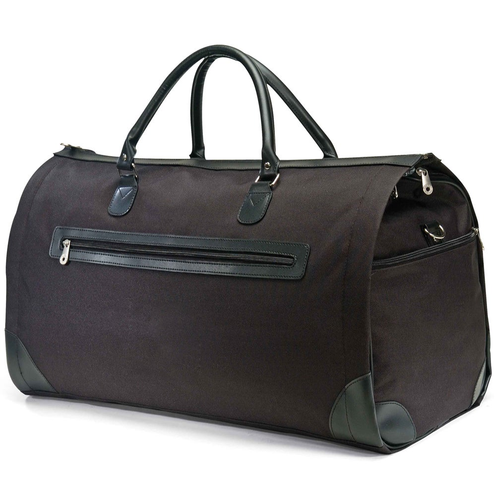 Augus Top Grain Leather Large Capacity Duffel Bag Carry-On Flight Luggage Bag