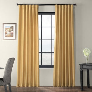 Exclusive Fabrics Honey Faux Silk Taffeta Curtain Panel