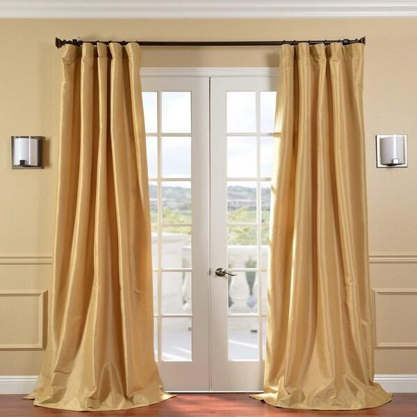 Exclusive Fabrics Honey Faux Silk Taffeta 120-inch Curtain Panel