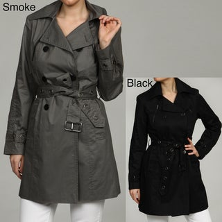 Kenneth Cole Women's Belted Front Trench Coat