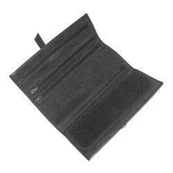 Royce Leather Black Man-made Leather Jewelry Roll