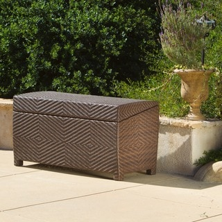 Outdoor Wicker Storage Chest by Christopher Knight Home