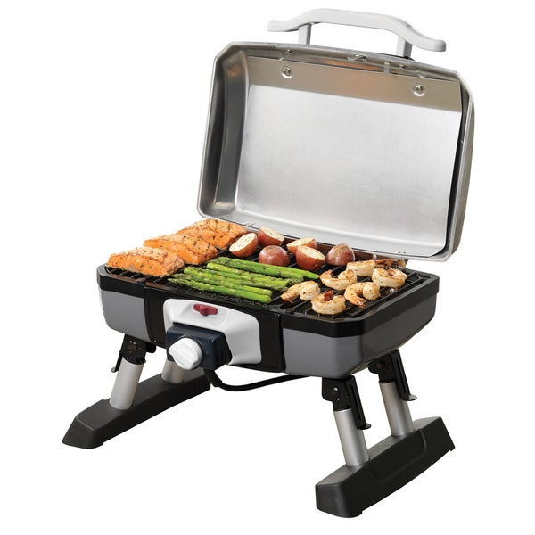 Wonderful Cuisinart CEG 980T Portable Grey/ Black Outdoor Electric Tabletop Grill    Free Shipping Today   Overstock.com   13514662