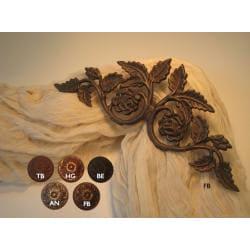 Flower Garden Scroll 14-inch Drapery Crown - Thumbnail 1