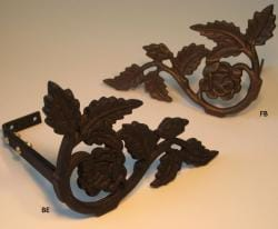 flower garden curtain holdbacks/scarf holders (pack of 2) - free