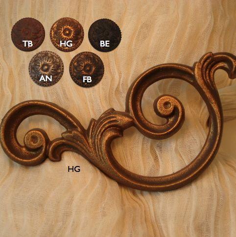 Verona Scroll Curtain Holdback (Set of 2) (Brown - Brown ...