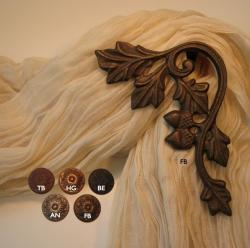 Oak Leaf Scroll Curtain Holdbacks/Scarf Holders (Pack of 2)