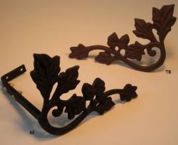 Oak Leaf Scroll Curtain Holdbacks/Scarf Holders (Pack of 2) - Thumbnail 2