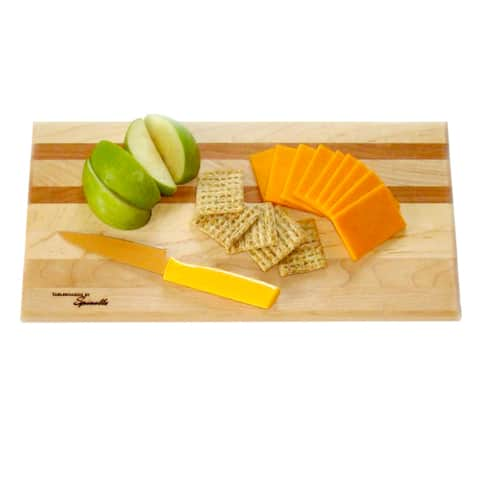 U-Board Large Hard Maple Wood and Cherry Cutting Board