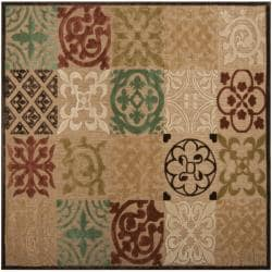 Woven Equinox Natural Essential Indoor/Outdoor Moroccan Tile Rug (7'6 Square)