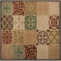 Woven Equinox Natural Essential Indoor/Outdoor Moroccan Tile Area Rug (7'6 Square)
