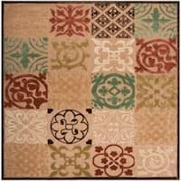 Woven Equinox Natural Essential Indoor/Outdoor Moroccan Tile Area Rug - 7'6 x 7'6