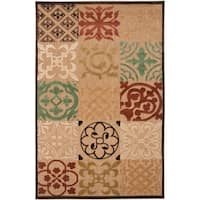 Woven Equinox Natural Essential Indoor/Outdoor Moroccan Tile Area Rug - 8'8 x 12'