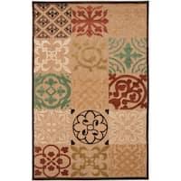 Woven Equinox Natural Essential Indoor/Outdoor Moroccan Tile Area Rug - 8'8 x 12'