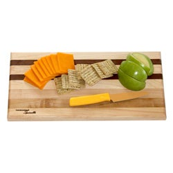 U-Board Large Hard Maple Wood and Walnut Cutting Board